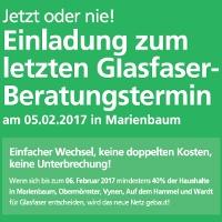 Einladung zur Glasfaserberatung